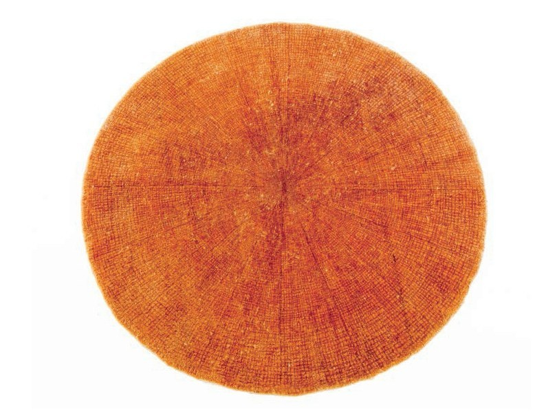 Solid-color round rug SW RUGS LITHA #2 by STELLAR WORKS