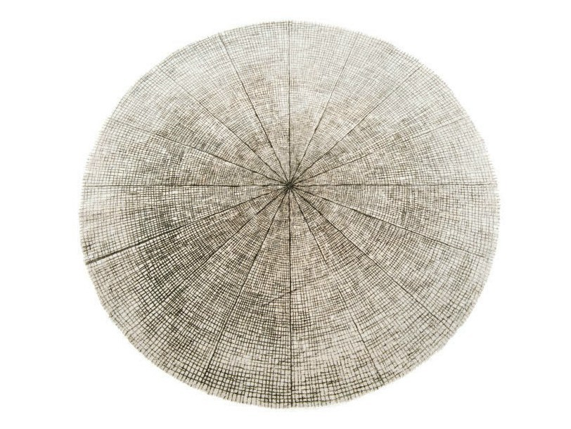 Solid-color round rug SW RUGS LITHA #3 by STELLAR WORKS