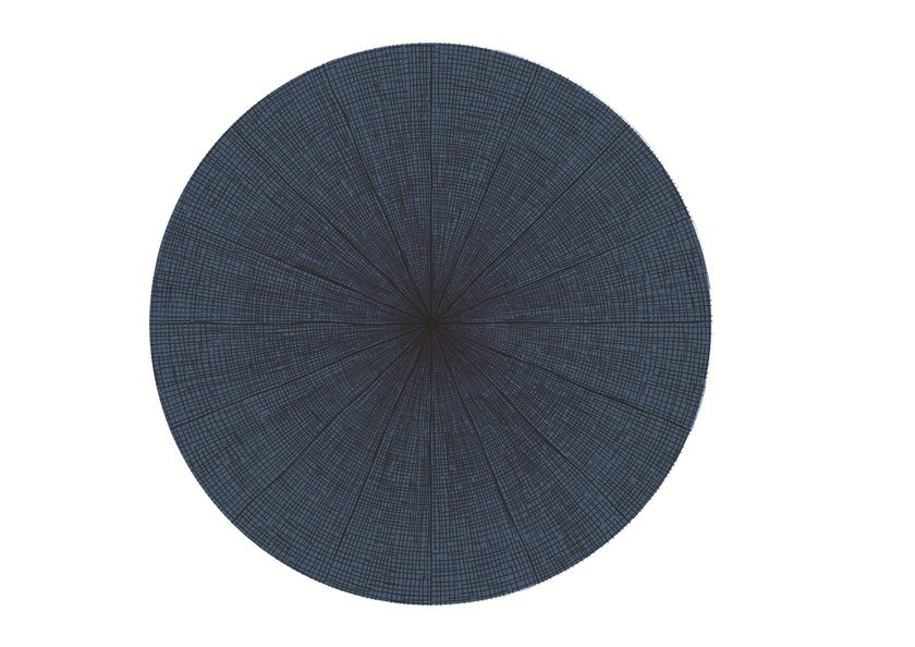 Solid-color round rug SW RUGS LITHA #1 by STELLAR WORKS