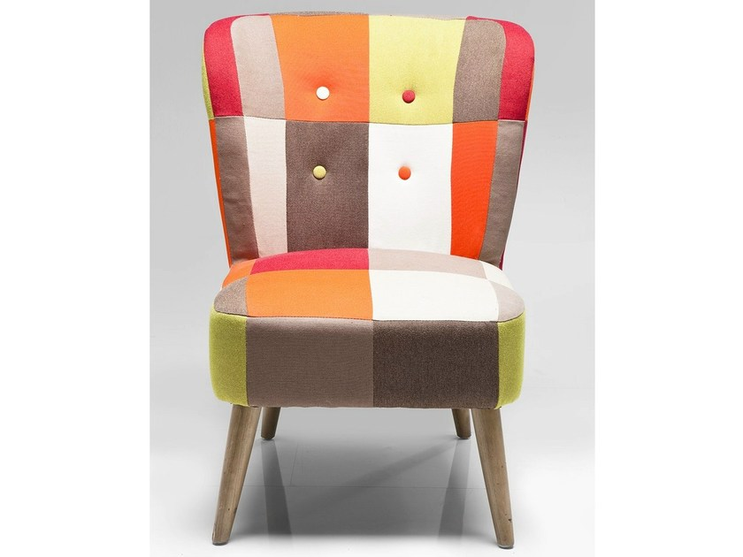 Upholstered fabric armchair MIXED FIELDS by KARE-DESIGN