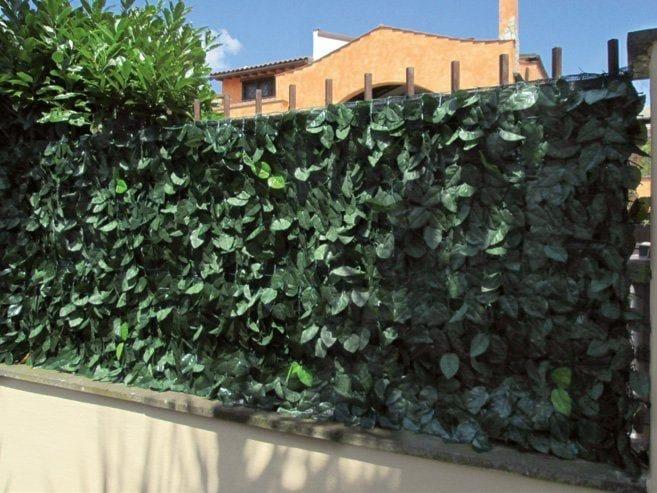 Sichtschutz Zaun Aus Kunstrasen Divy Laurus Net By Tenax