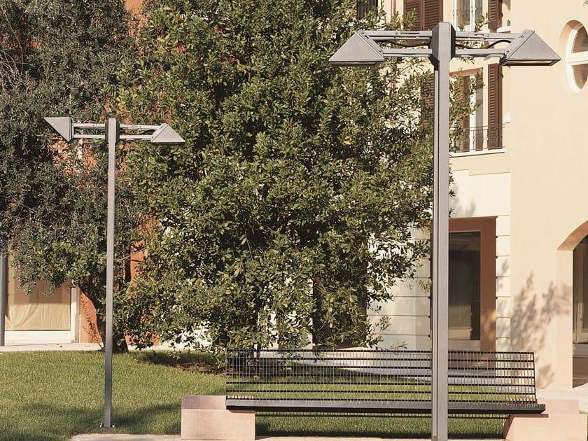 Triangolo city aluminium garden lamp post by goccia illuminazione