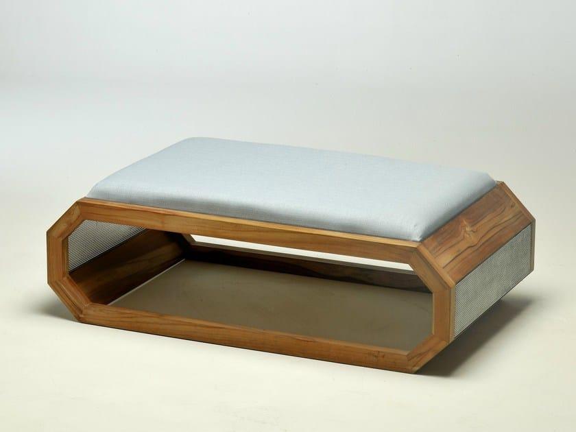 Wooden pouf HIVE | Pouf by Lgtek Outdoor