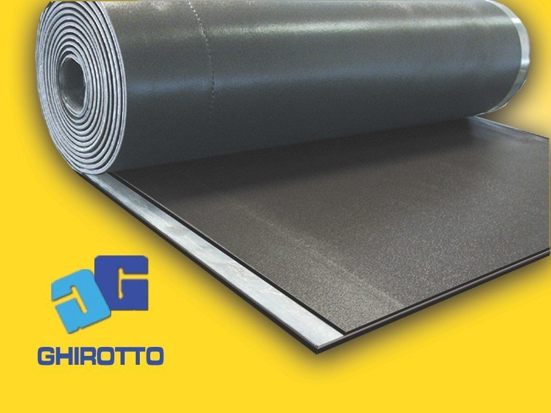 Sound insulation and sound absorbing felt with lead-laminate PIOMBOPAV ROLL by GHIROTTO
