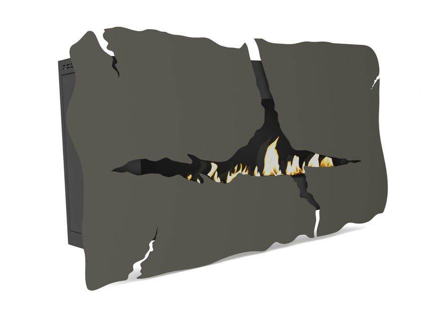 Bioethanol wall-mounted Corten™ fireplace APOLLO VII CREA7ION by GlammFire