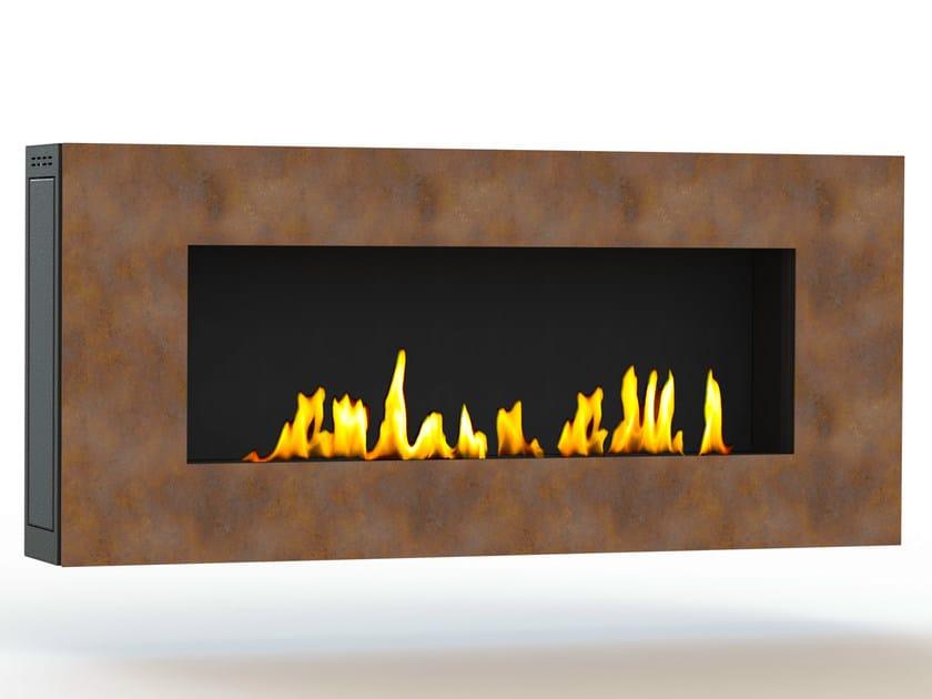 Bioethanol wall-mounted Corten™ fireplace APOLLO I CREA7ION by GlammFire