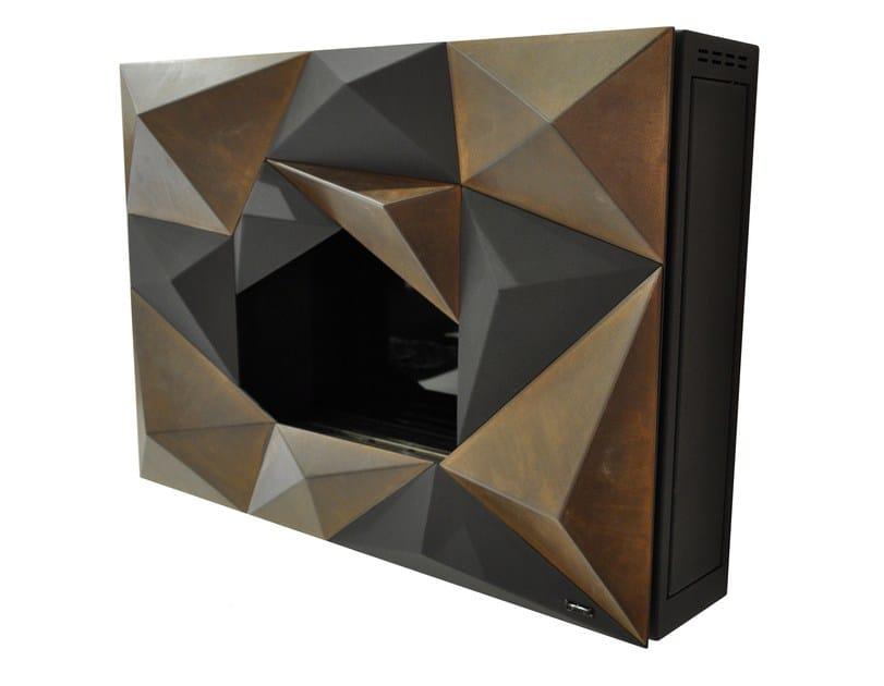 Bioethanol wall-mounted steel fireplace CRYSTAL by GlammFire