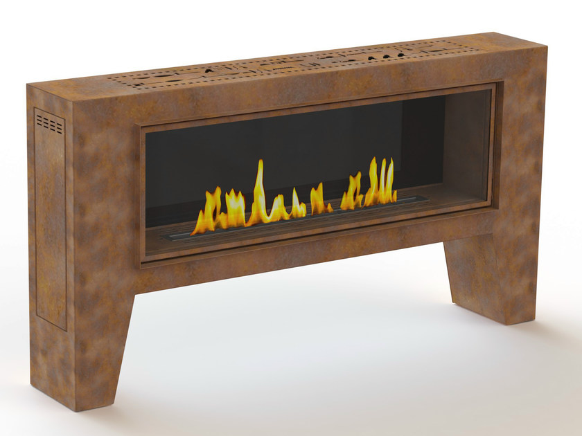 Outdoor bioethanol Corten™ fireplace FOGLY I by GlammFire