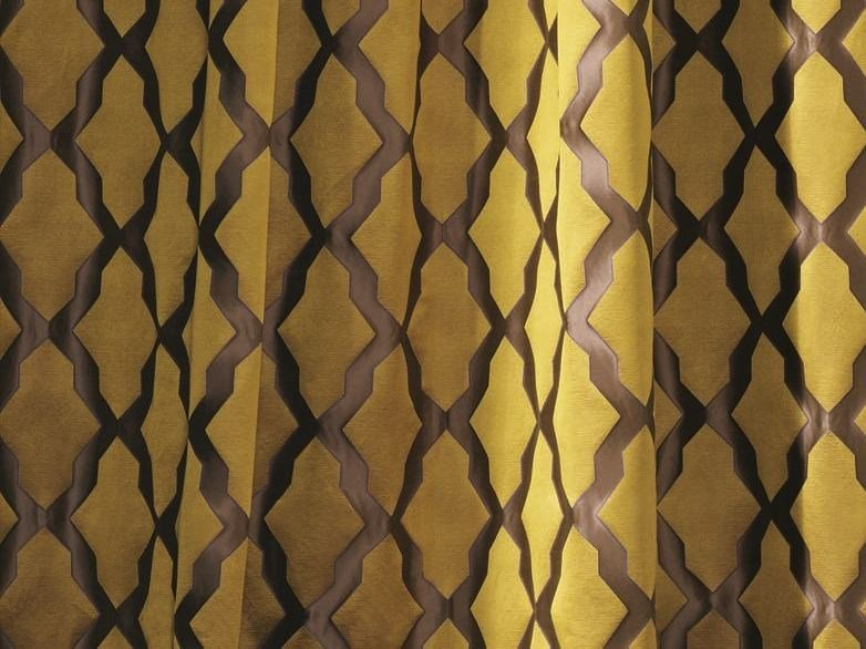 Fabric with graphic pattern for curtains PLEASURE by Zimmer + Rohde