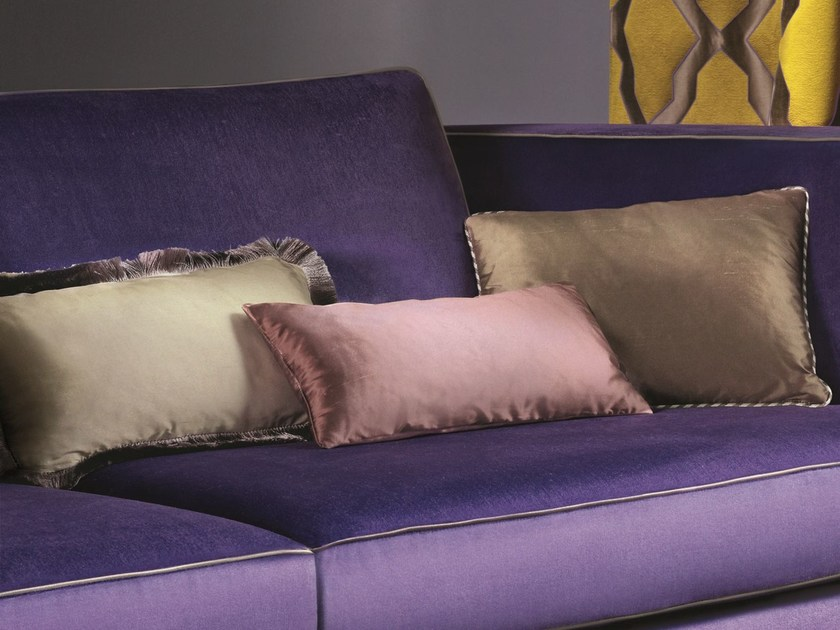 Solid-color silk upholstery fabric COLIBRI by Zimmer + Rohde