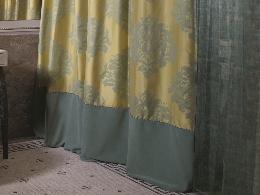Jacquard polyester fabric for curtains FARIN by Zimmer + Rohde