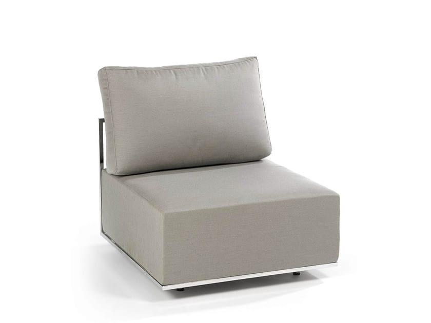 Upholstered modular fabric garden armchair SUITE   Garden armchair by FISCHER MÖBEL
