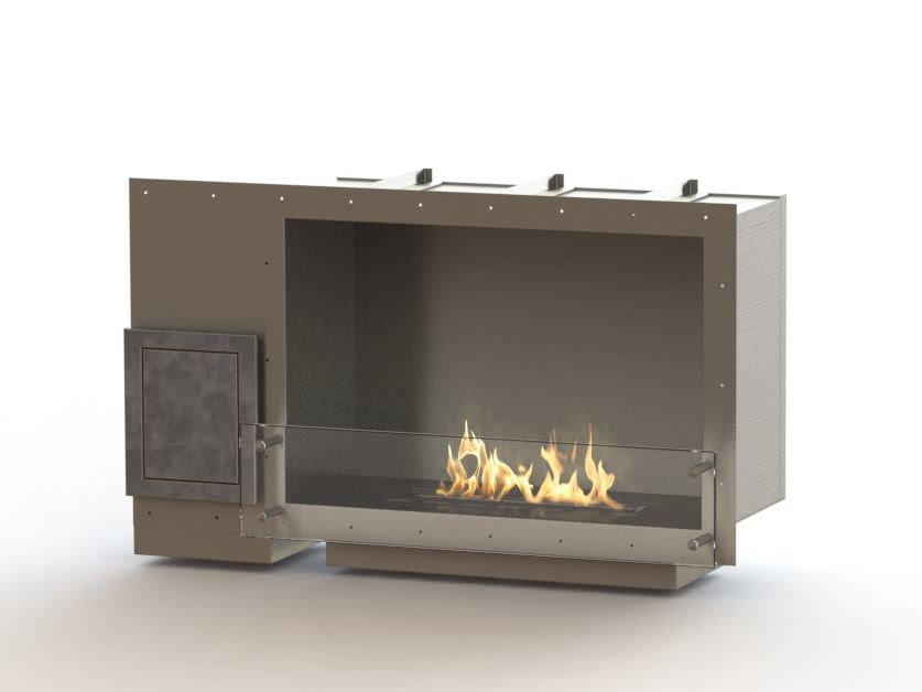 Built-in bioethanol stainless steel fireplace GLAMMBOX 770  CREA7ION by GlammFire