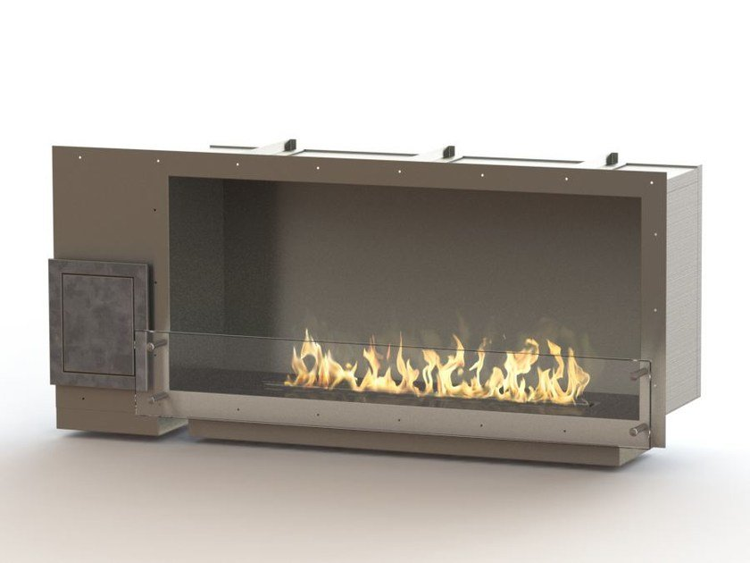 Built-in bioethanol stainless steel fireplace GLAMMBOX 1150  CREA7ION by GlammFire