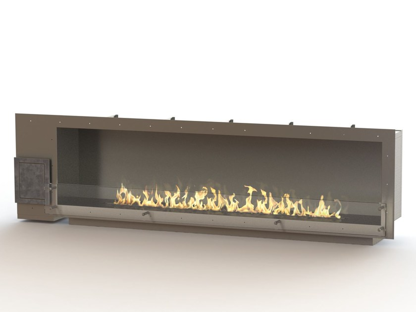 Built-in bioethanol stainless steel fireplace GLAMMBOX 2150  CREA7ION by GlammFire