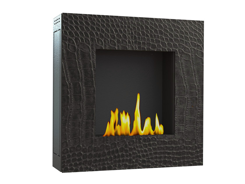 Bioethanol wall-mounted steel fireplace LOTUS II CREA7ION by GlammFire