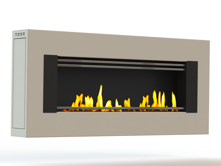 Bioethanol wall-mounted lacquered steel fireplace MITO GENESIS I CREA7ION by GlammFire