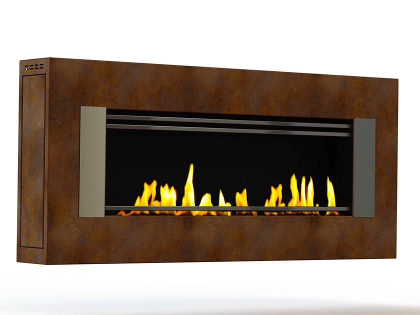 Bioethanol wall-mounted Corten™ fireplace MITO GENESIS III CREA7ION by GlammFire