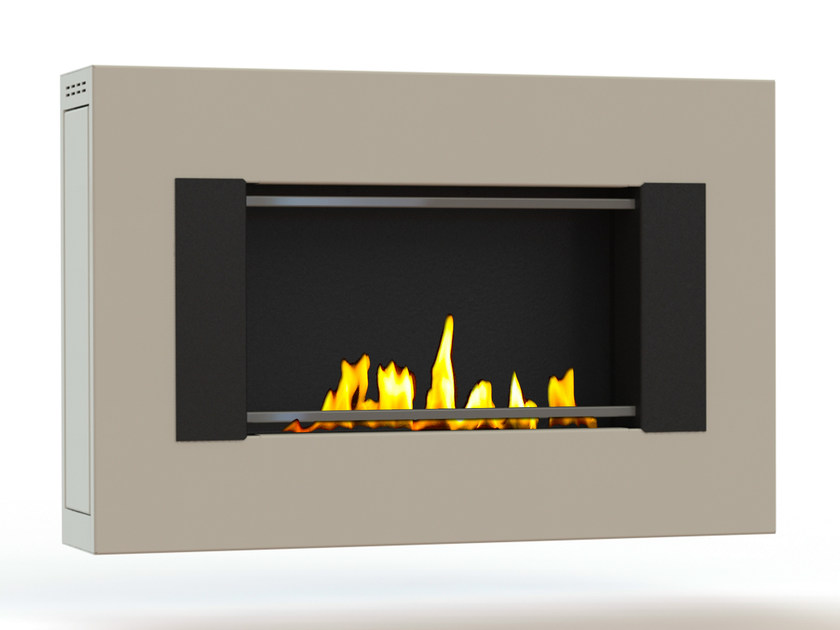 Bioethanol wall-mounted lacquered steel fireplace MITO SMALL GENESIS I CREA7ION by GlammFire
