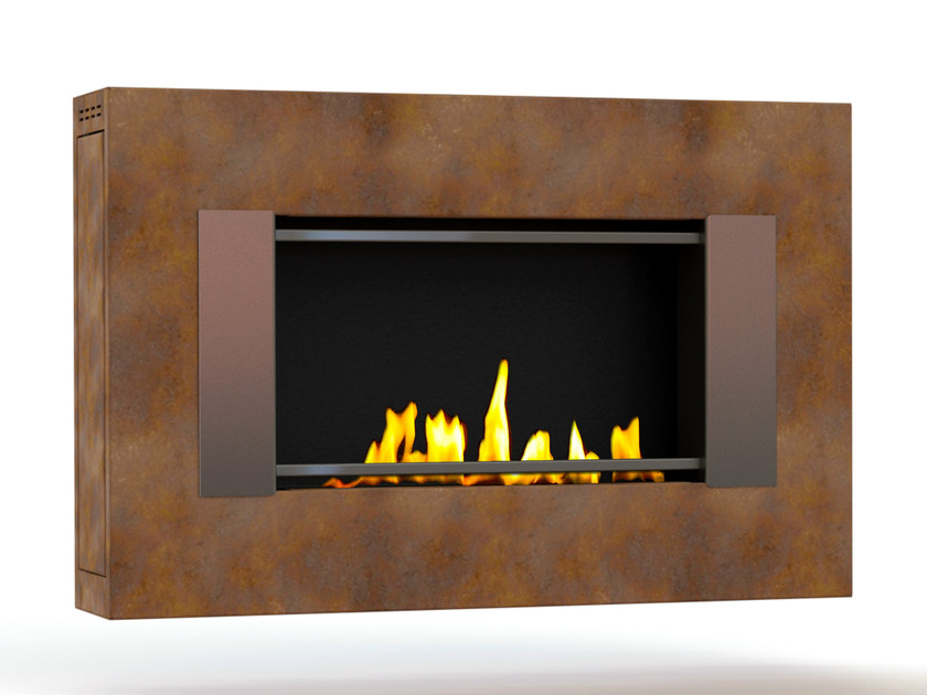 Bioethanol wall-mounted Corten™ fireplace MITO SMALL GENESIS III CREA7ION by GlammFire
