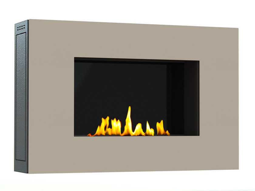 Bioethanol wall-mounted lacquered steel fireplace MITO SMALL I CREA7ION by GlammFire
