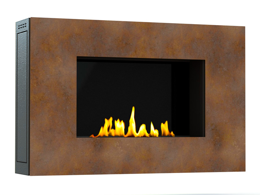 Bioethanol wall-mounted Corten™ fireplace MITO SMALL III CREA7ION by GlammFire