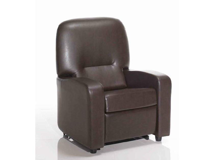 Upholstered armchair with footstool 301 | Armchair by Castellani.it