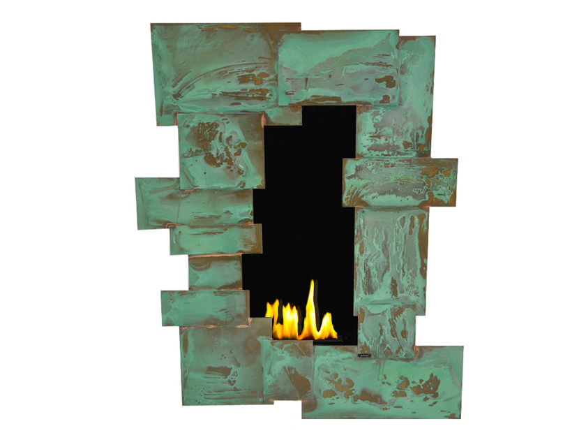 Bioethanol wall-mounted copper fireplace TANGO V CREA7ION by GlammFire