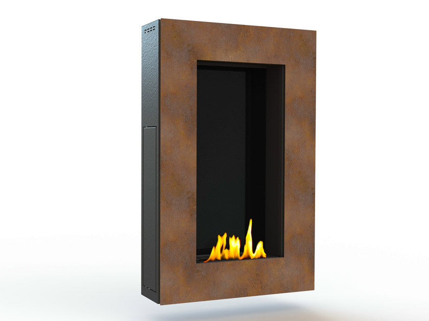 Bioethanol wall-mounted Corten™ fireplace TANGO IV CREA7ION by GlammFire