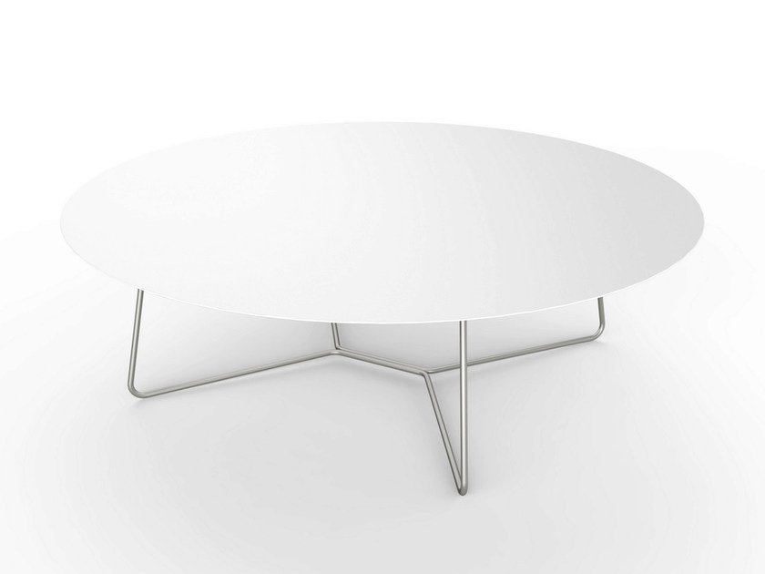 Round Corian® Coffee Table SLIM LOUNGE TABLE 130 By VITEO
