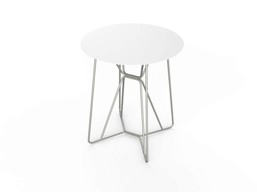 Round Corian® garden table SLIM TABLE 64 by VITEO