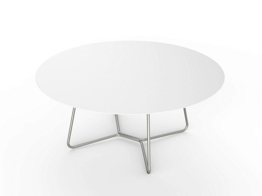 Round Corian® coffee table SLIM LOUNGE TABLE 110 by VITEO