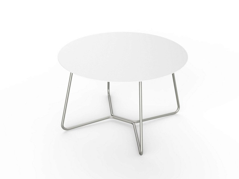 Round Corian® coffee table SLIM LOUNGE TABLE 64 by VITEO