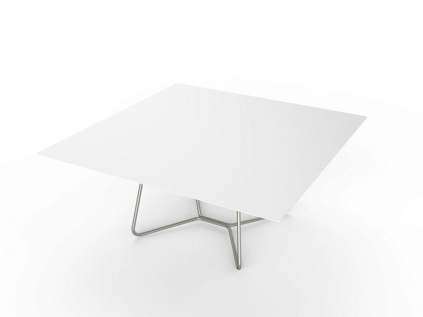 Square Corian® coffee table LOUNGE SQUARE TABLE 90 by VITEO