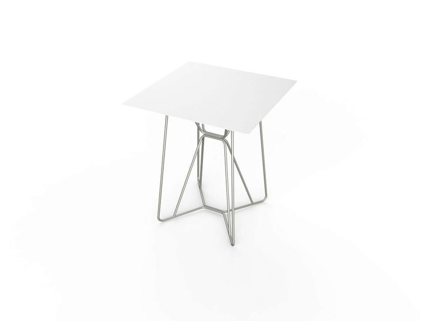 Square Corian® garden table SLIM SQUARE TABLE 64 by VITEO