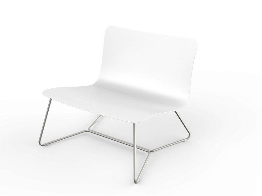 Corian® garden armchair SLIM | Easy chair by VITEO