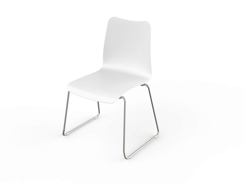 Stackable Corian® chair SLIM | Stackable chair by VITEO