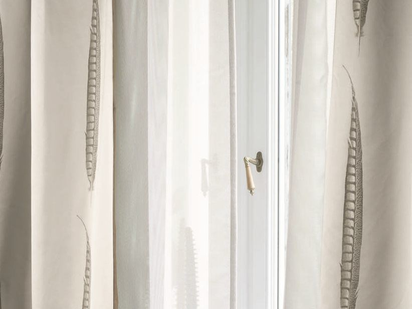 Solid-color polyester fabric for curtains SKYLIGHT by Zimmer + Rohde