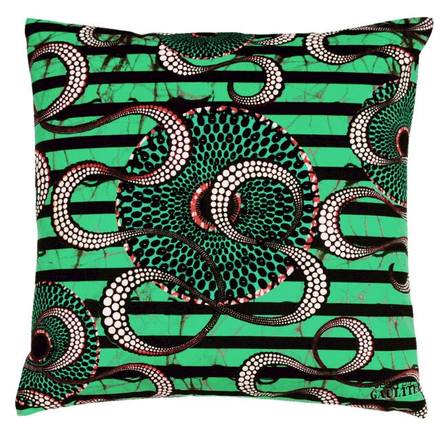 Square fabric cushion INFLUENCE by LELIEVRE