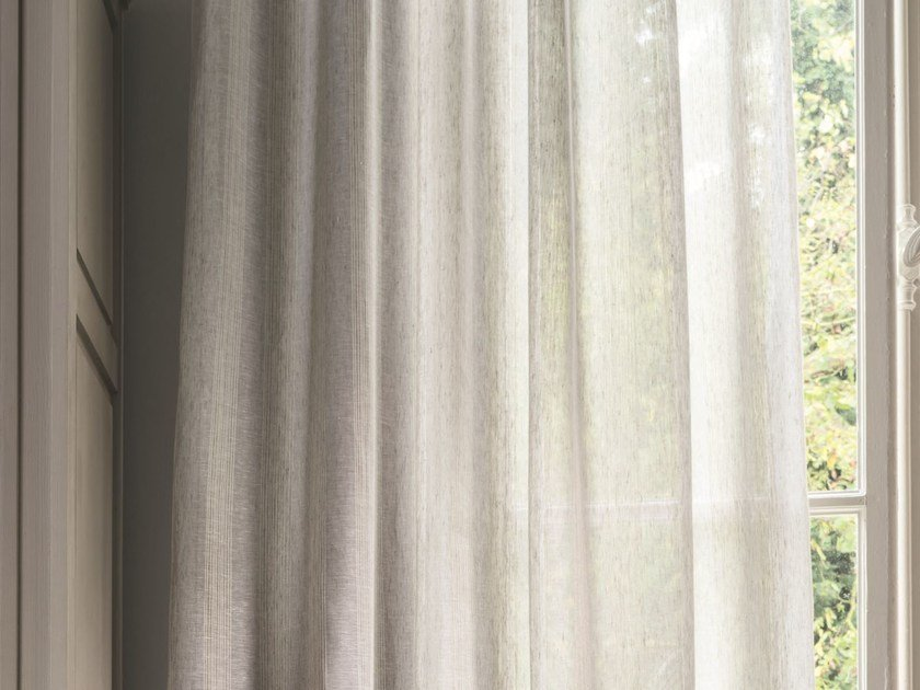 Solid-color linen fabric HELIOS | Fabric for curtains by Zimmer + Rohde