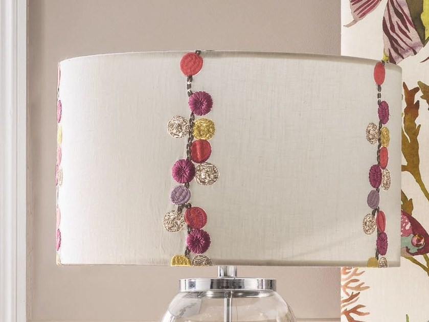 Embroidered linen fabric with floral pattern MELI-MÉLO | Fabric by Zimmer + Rohde