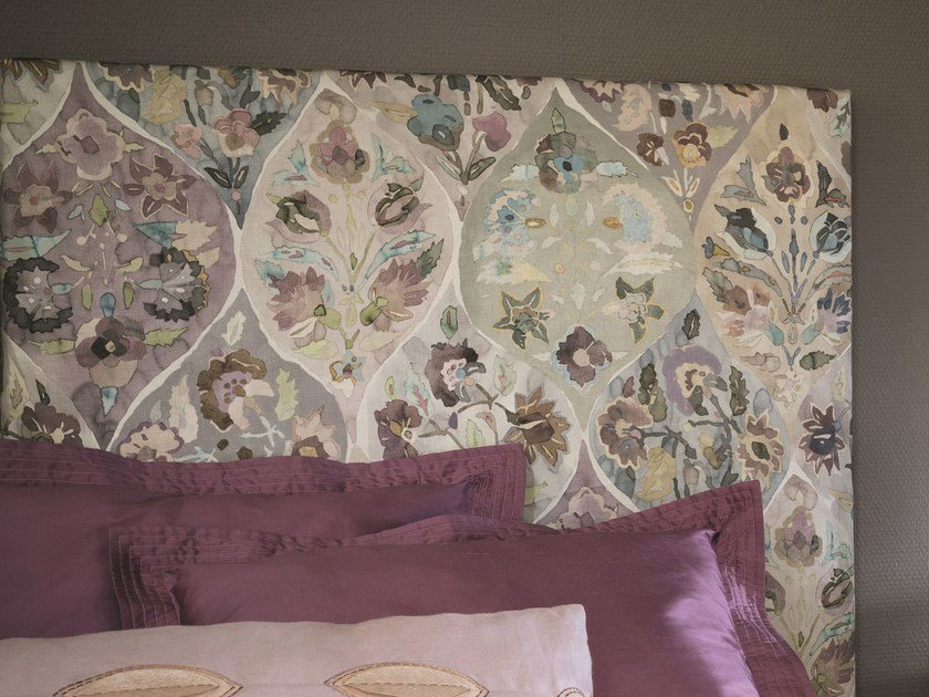 Linen upholstery fabric with floral pattern NOMADE   Upholstery fabric by Zimmer + Rohde