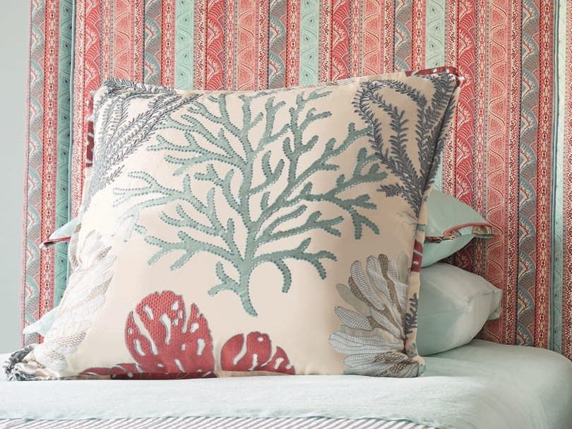 Embroidered upholstery fabric SEA ISLAND | Upholstery fabric by Zimmer + Rohde