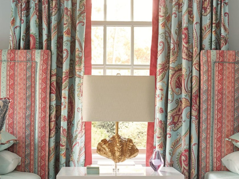 Paisley fabric for curtains LEHMAN PAISLEY by Zimmer + Rohde
