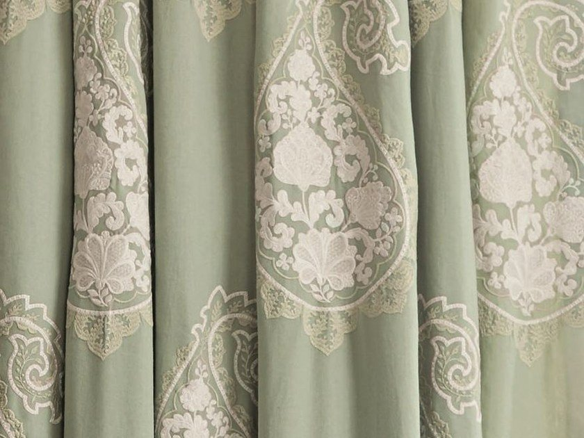 Paisley embroidered fabric for curtains REGIS PAISLEY by Zimmer + Rohde