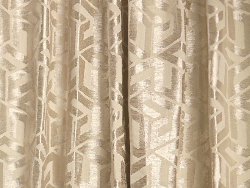 Solid-color fabric with graphic pattern for curtains ASHWELL by Zimmer + Rohde