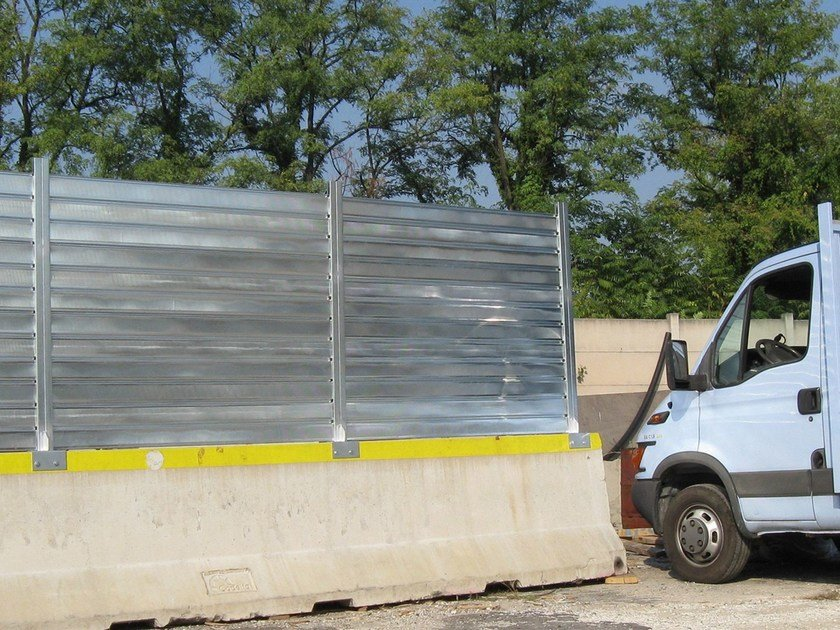 Steel Construction site temporary and mobile fencing Temporary Fencing by OFFICINE LOCATI