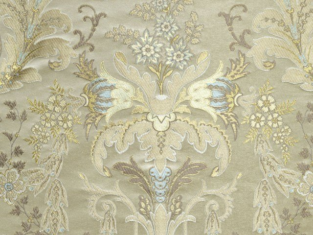 Damask upholstery fabric VERDI BROCART by LELIEVRE