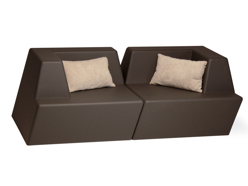 2 seater foam sofa UNIVERS | 2 seater sofa by FISCHER MÖBEL