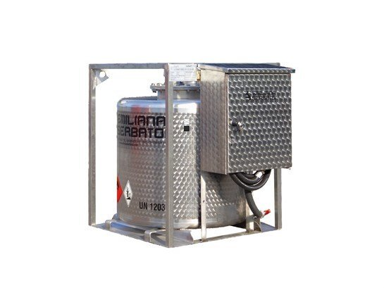Basin, cistern and tank for water works TRASPO® 330 INOX by EMILIANA SERBATOI